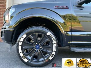 Permanent Tire Lettering Ford F150 Stickers Letter Wheel 17 26 Decal 1 37
