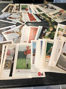 Lot Of 35 COCA COLA Ad Advertisements VINTAGE Collection 1930's - 1960's  (c606