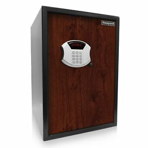 Honeywell Digital Safe W depository Slot And Faux Wood Door