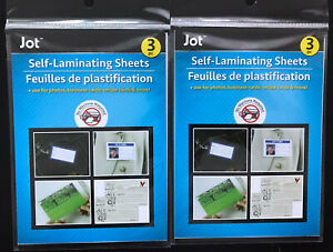 new 6 self Laminating Sheets 4x6 No Tools Needed For Id Cards Free Shipping