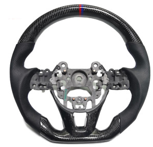 Real Carbon Fiber Sport Universal Car Steering Wheel Fit For Mazda Customized