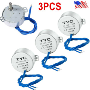 3pcs Synchronous Turntable Motor Electric For Cup Turner Cuptisserie Tumbler New