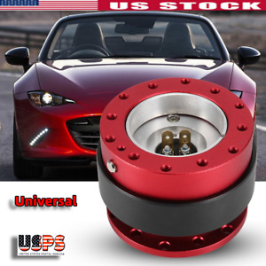 Universal Car Steering Wheel Quick Release Hub Racing Adapter Snap Off Boss Kit