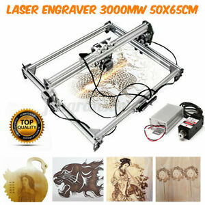 3000mw 65x50cm Diy Laser Engraving Cutting Machine Engraver Printer Desktop Usa
