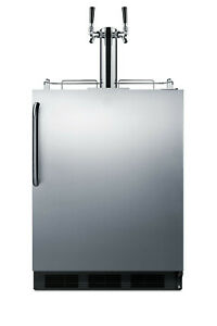 Summit Sbc58bbicada 24 w 5 5 Cu Ft Built in Commercial Double Stainless