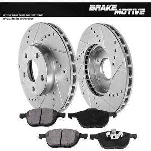 Front Brake Rotors Metallic Pads For 2012 2013 2014 2015 2016 2017 Ford Focus