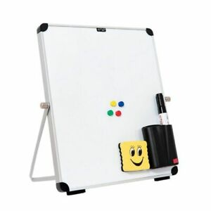 Double Sided Magnetic Whiteboard Desktop Dry Erase Board Portable To Do List