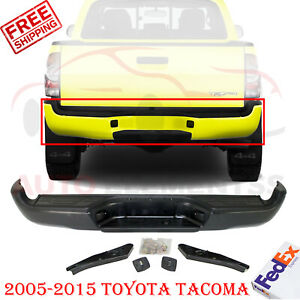 Rear Step Bumper W Hardware Pad For 2005 2015 Toyota Tacoma Fleet Styleside