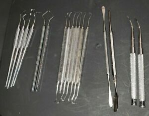 Lot Of 17 Hu friedy Instruments Tools Chisels Files