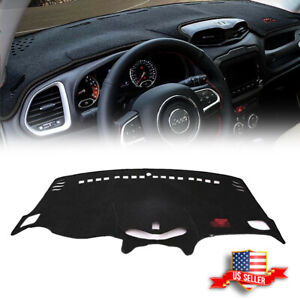 Dashmat Dash Protector Cover Pad Carpet For 2014 17 Jeep Renegade Dashboard Trim