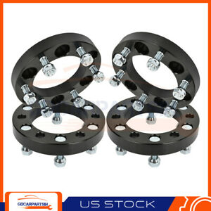 4 1 Wheel Spacers 6x5 5 12x1 5 Studs For Chevrolet For Toyota Tacoma Black