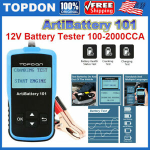 Car Battery Tester 12v Cranking Charging System Scan Tool Ab101 100 2000 Cca New