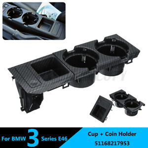 Plastic Car Center Console Drink Cup Holder Coin Box For Bmw 3 Series E46 99 06