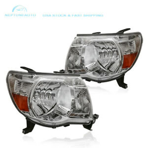 1 Pair Clear Headlights Lamps Assembly For 2005 2011 toyota Tacoma Pre Runner