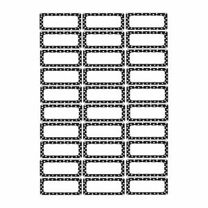 Ashley Productions Black Dots Magnetic Small Nameplates