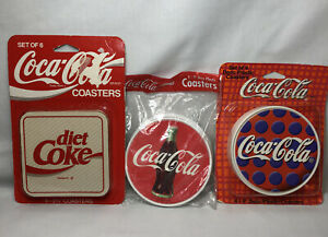 Vintage Coca-Cola COASTERS Cork 1990s Lot of 14 NEW In Packages