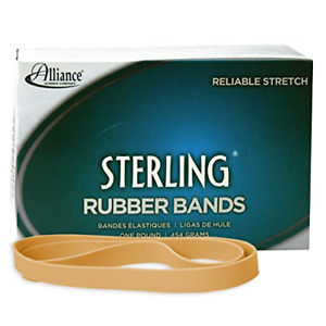 Alliance Rubber 25075 Sterling Rubber Bands Size 107 1 Lb Box Contains Approx