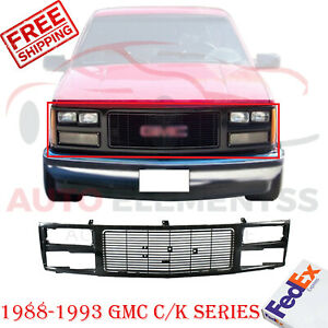 Front Grille Primed Shell Insert Plastic For 1988 1993 Gmc C k Series Pickup