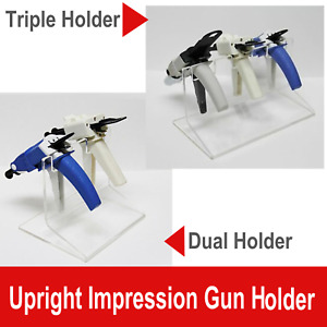Dental Premium Upright Triple Impression Gun Rack Organizer Or Dual Holder