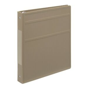 Carstens 1 Inch Heavy Duty 3 ring Binder Taupe Blemished Lot Of 20