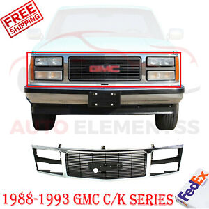 Front Grille Chrome Shell Insert For 1988 1993 Gmc C k Series