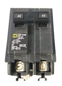 Square D By Schneider Electric Homeline 40 Amp Two pole Circuit Breaker 240v