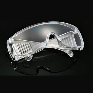 2x Safety Goggles Over Glasses Lab Work Eye Protective Eyewear Lens Protector