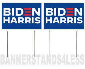 8x12 Inch Biden Harris Yard Sign With Stake Bb 2 Pack