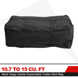 Hitch Rack Cargo Carrier Bag Expandable Trailer Hitch Bag Luggage Storage Bag