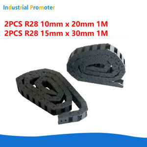 2x R28 10x20mm 15x30mm Nylon Cable Drag Chain Wire Carrier 1m For Cnc 3d Peinter
