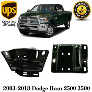 Set Of 2 Front Bumper Brackets Steel Rh Lh For 2003 2018 Dodge Ram 2500 3500