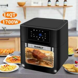 14qt Digital Air Fryer Oven With Rotisserie Dehydrator Convection Oven 1700w