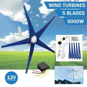 5 Blades 5000w Wind Turbine Generator Unit Dc 12v W Power Charge Controller New