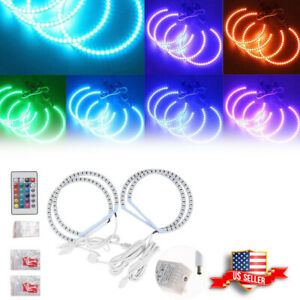Rgb Multi color Led Angel Eye Halo Rings For Bmw E39 E46 3 5 7 Series Headlights