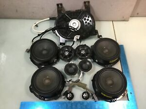 17 19 Jaguar Xe Meridian Sound System Speakers Tweeters And Subwoofer Set E P