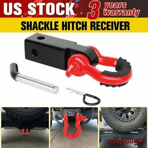 2 Tow Shackle Hitch Reciver D ring Recovery Heavy Duty For Truck Jeep Suv Us