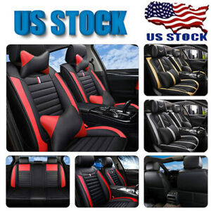 Luxury Leather Universal 5 Seats Full Car Seat Covers Cushions Full Surrounded
