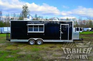 New 2021 8 5x24 Enclosed Mobile Concession Kitchen Food Bbq Vending Trailer