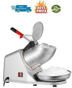 Zeny Ice Shaver Machine Electric Snow Cone Maker Stainless Steel Shaved Ice Per