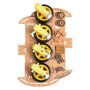 Quality Motor Smart Robot Car Chassis Diy Kit 4wd Ultrasonic For Arduino Driver