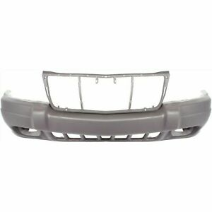 New Bumper Cover With Fog Light Holes Fits Jeep Grand Cherokee 1999 2003 Front