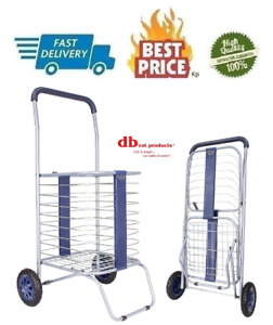 Cruiser Cart Shopping Cart Grocery Rolling Folding Laundry Basket On Wheels