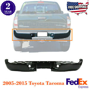 Rear Step Bumper Primed Steel Fleetside For 2005 2015 Toyota Tacoma