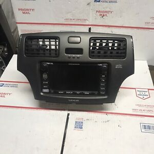 02 06 Lexus Es300 Es330 Radio Cd Gps Navigation Controls Dash Bezel Screen 03 04