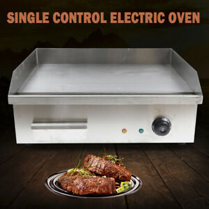 3000w Commercial Electric Griddle Grill Bbq Plate Countertop Stainless Steel