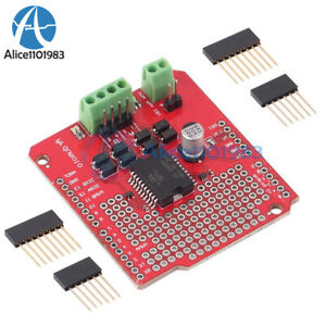 L298p Dual Channel Motor Driver Shield Dc Stepper Driver Board For Arduino Diy
