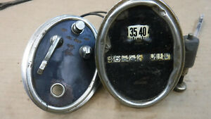 Antique Car Speedometer And Headlight Ignition Switch Mt 5516