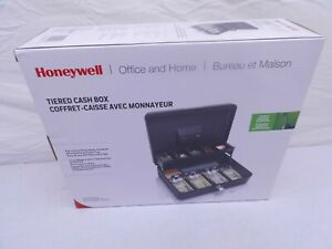 Honeywell 6213 Steel Tiered Cash Box With Two entry Key locking System black