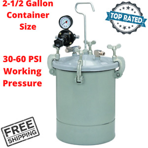 Air Pressure Paint Tank With Regulator Gauge Safety Valve For Texturing Walls