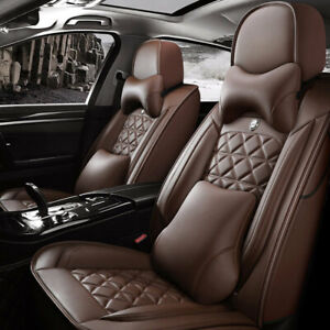 Hot Car Seat Covers Universal Leather Cushion 5 Sit Auto Suv Interior Parts Set
